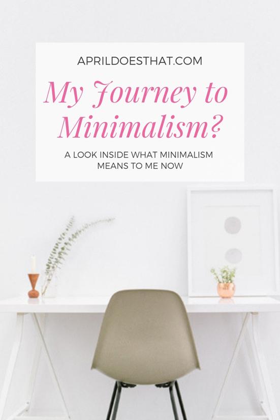 My Journey Toward Minimalism?