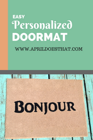 Easy Personalized Doormat