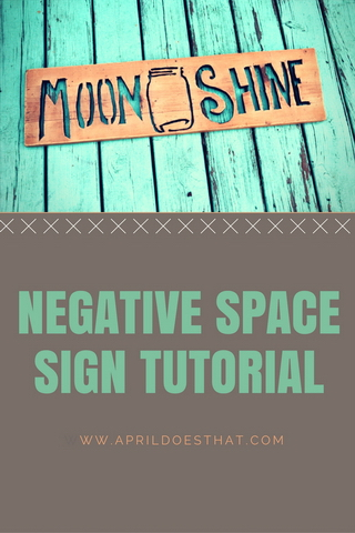 Negative Space Sign Tutorial