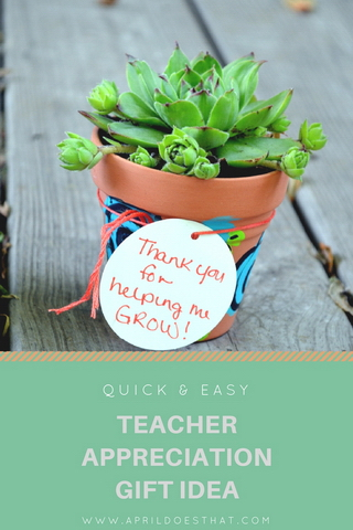 Quick & Easy Teacher Appreciation Gift